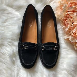 NEW Talbots black flat suede shoes